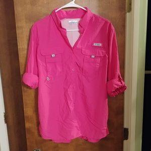 Women's Pink PFG Long Sleeve